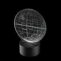 Luminária de Led - Estrela da Morte Star Wars