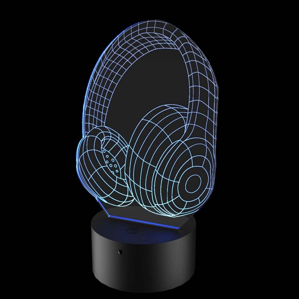 Luminária de Led - Fone de Ouvido