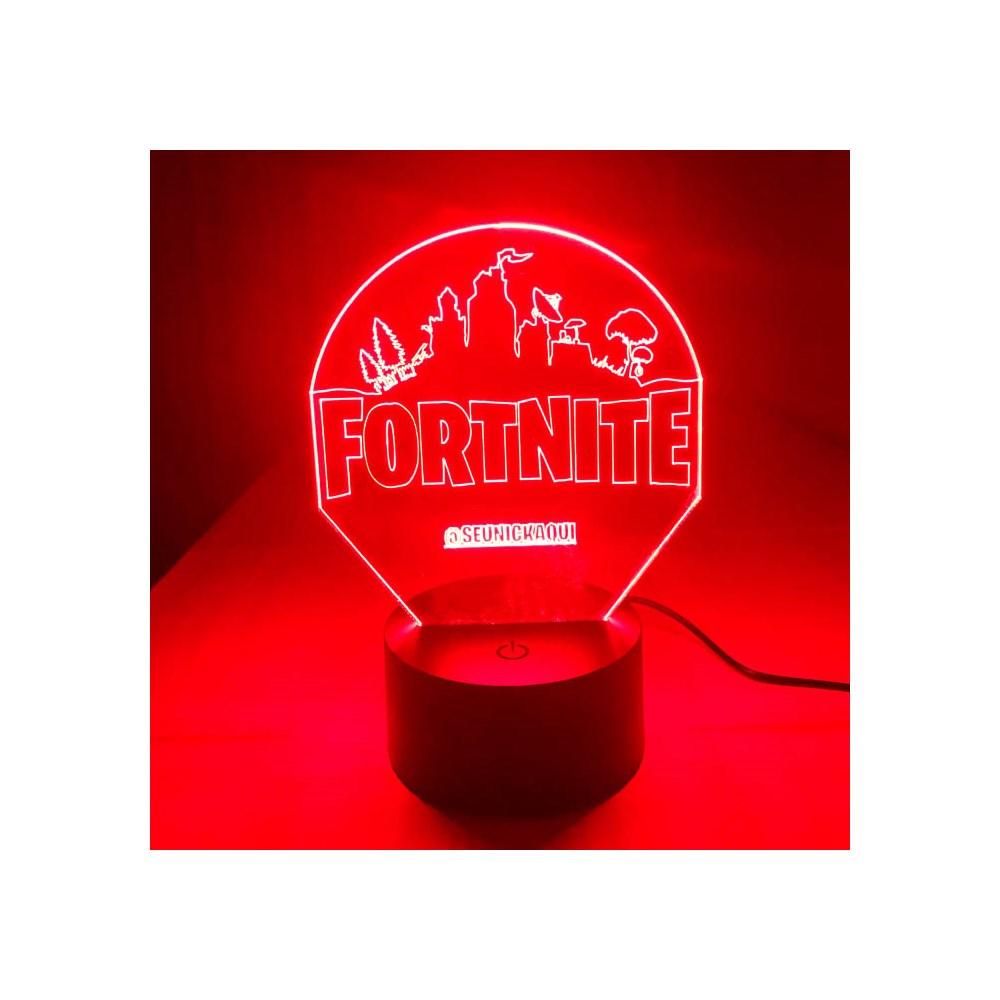 Luminária de Led - Fortnite Com Nick Personalizado