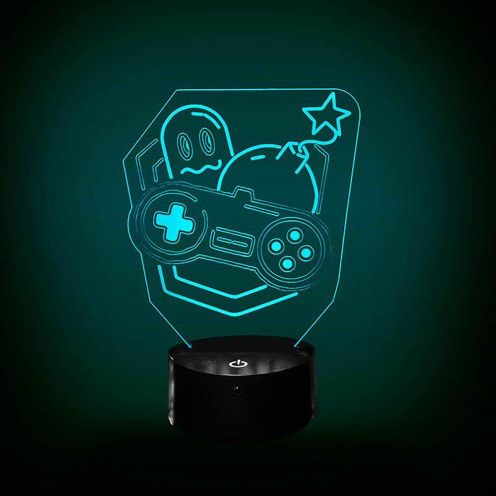 Luminária de Led - Geek Classic Games