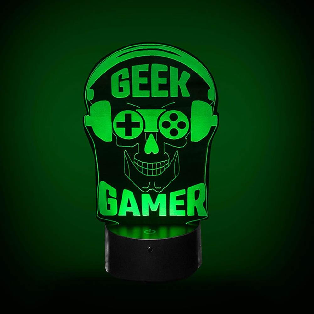 Luminária de Led - Geek Gamer
