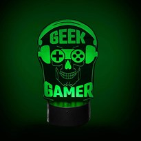 Luminária de Led - Geek Gamer