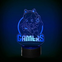 Luminária de Led - Geek Girl Gamer Power