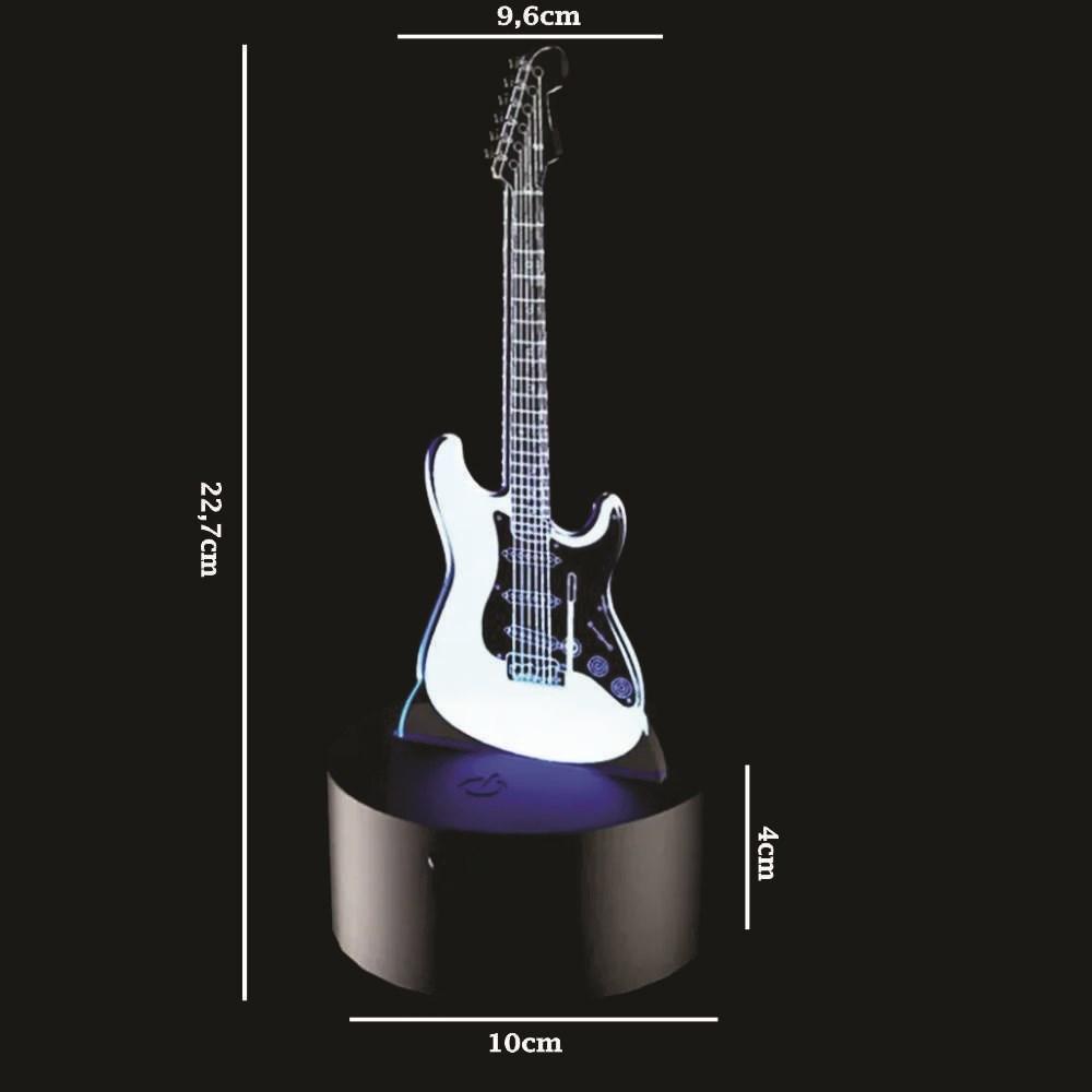 Luminária de Led - Guitarra