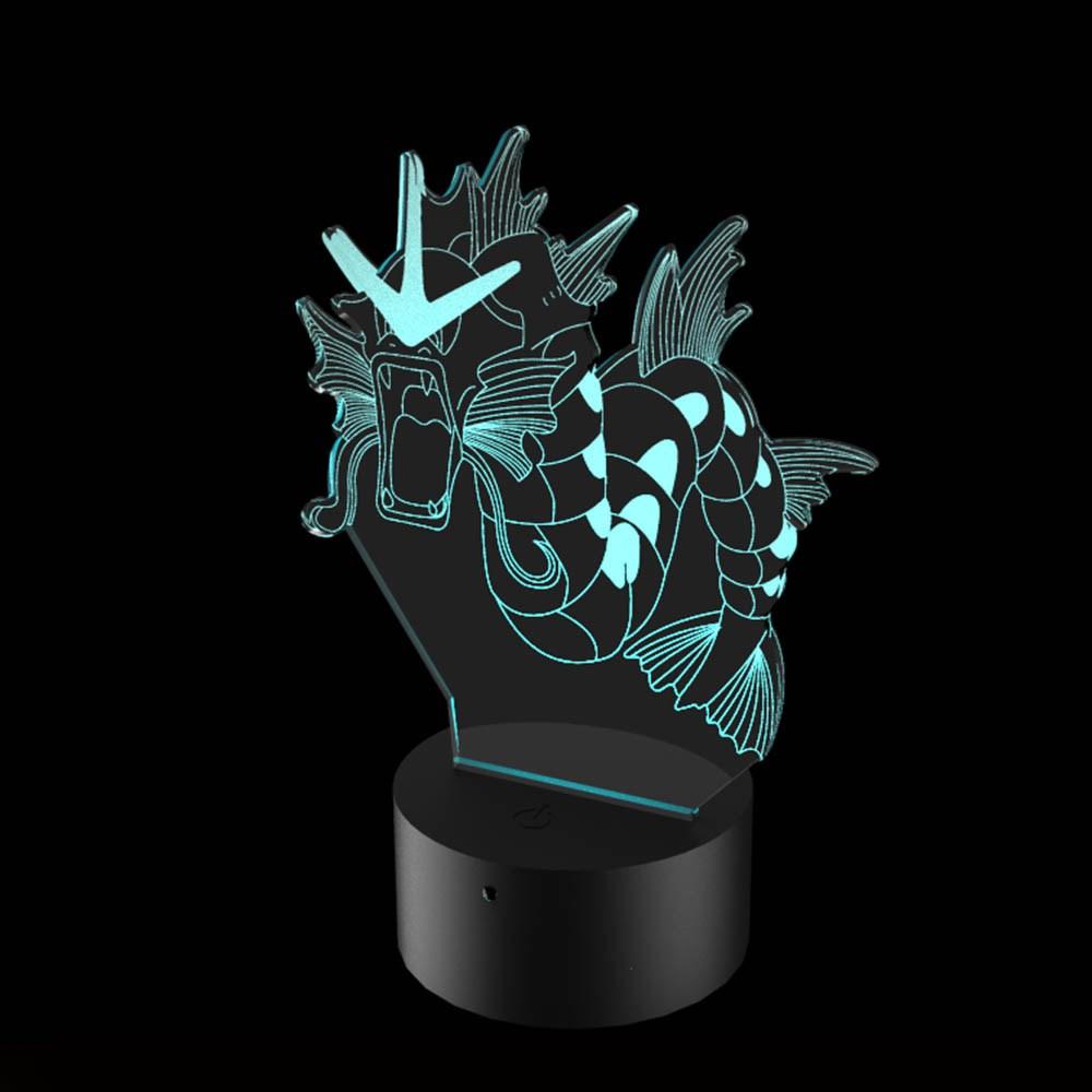 Luminária de Led - Gyarados Pokémon