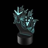 Produto Luminária de Led - Gyarados Pokémon
