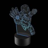 Produto Luminária de Led - Homem de Ferro
