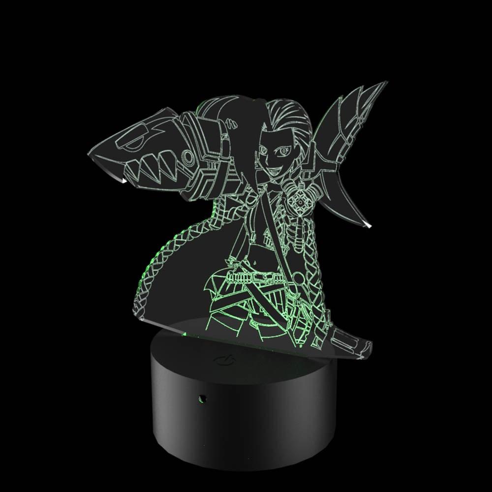 Luminária de Led - Jinx League Of Legends