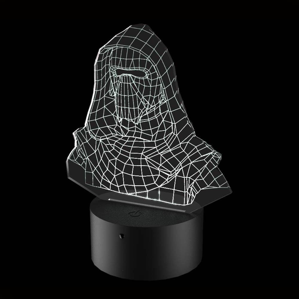 Luminária de Led - Kylo Ren Bust Star Wars