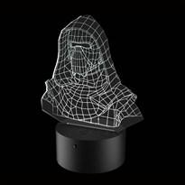 Luminária de Led - Kylo Ren Bust Star Wars