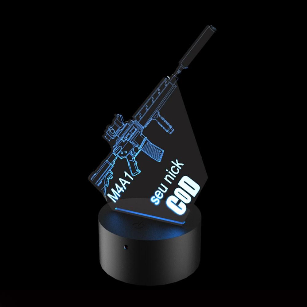 Luminária de Led - M4A1 Call of Duty