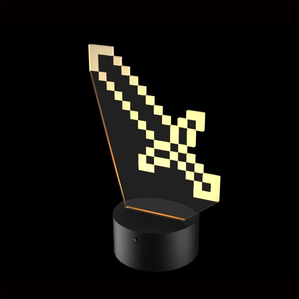 Luminária de Led - Minecraft Espada