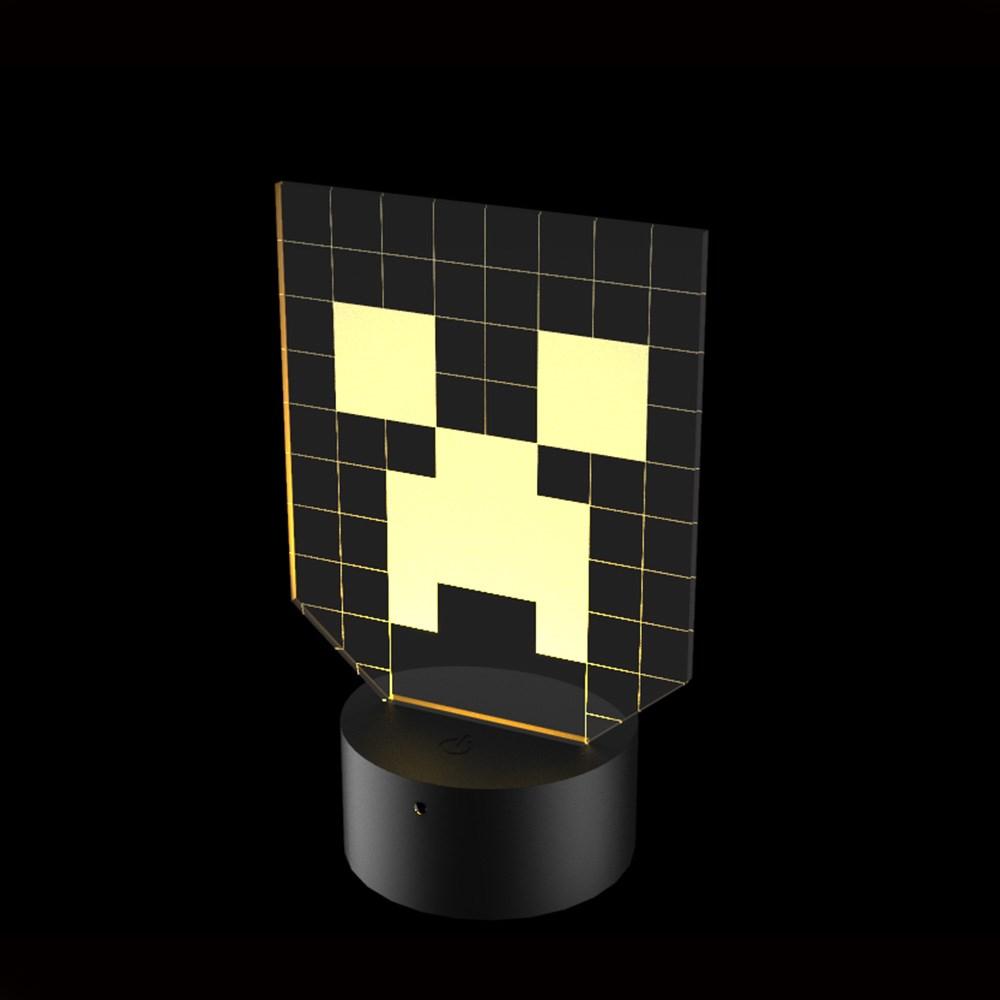 Luminária de Led - Minecraft Logo