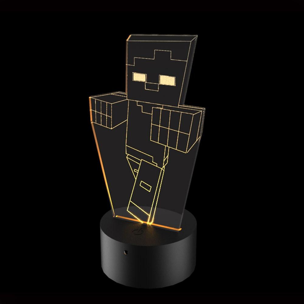 Luminária de Led - Minecraft Zumbi