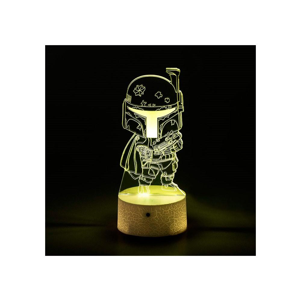 Luminária de Led - Miniatura Boba Fett Star Wars
