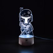Produto Luminária de Led - Miniatura Boba Fett Star Wars