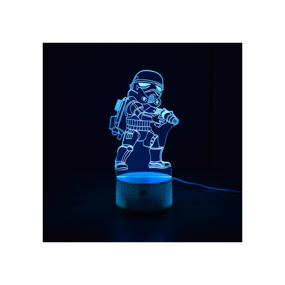 Luminária de Led - Miniatura Stormtrooper Star Wars