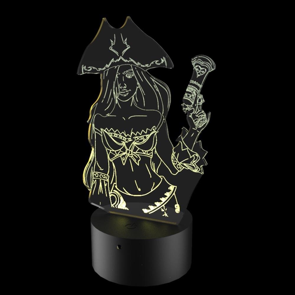Luminária de Led - Miss Furtune League Of Legends