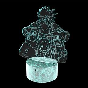 Luminária de Led - Modelo Naruto Kakashi Team