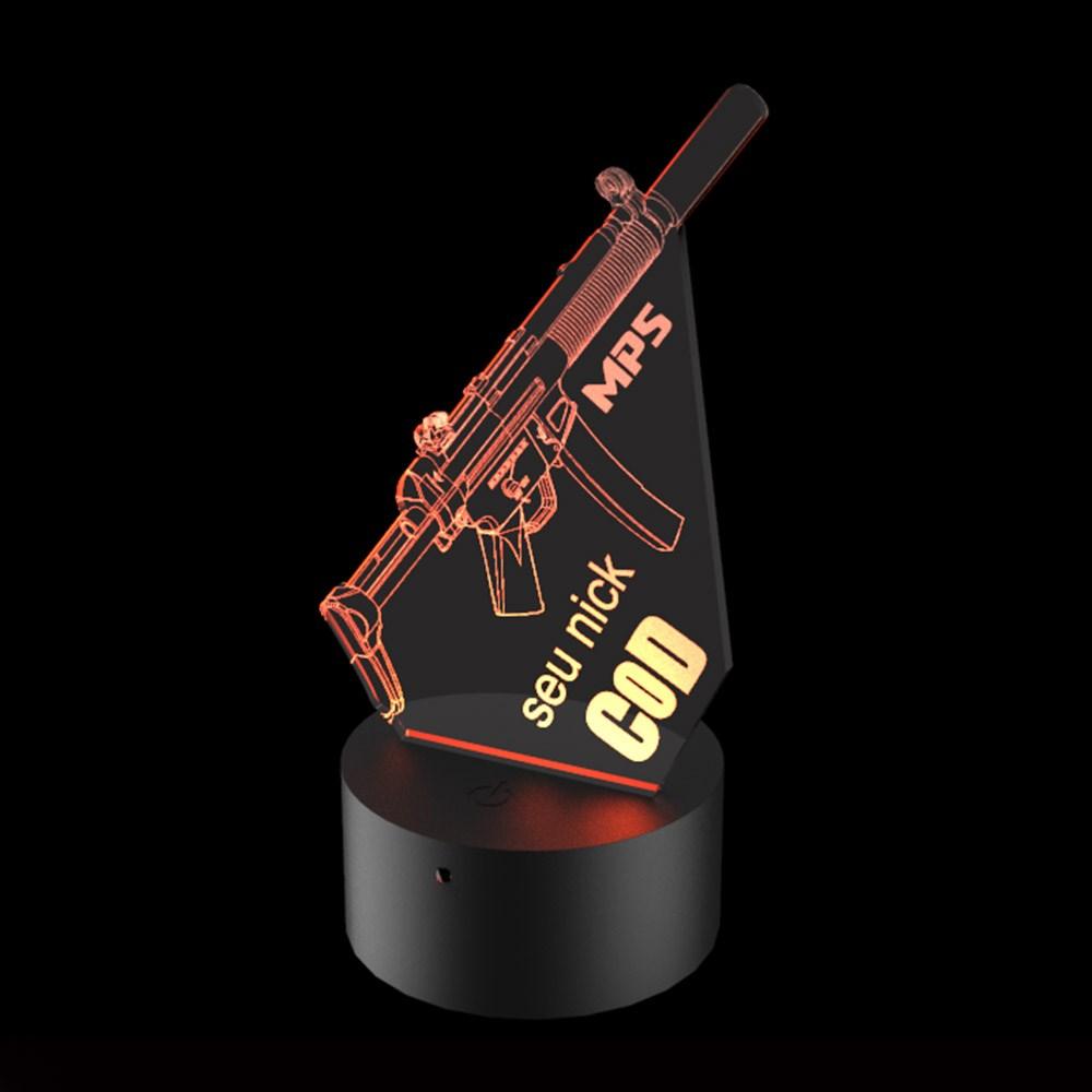 Luminária de Led - MP5 Call of Duty