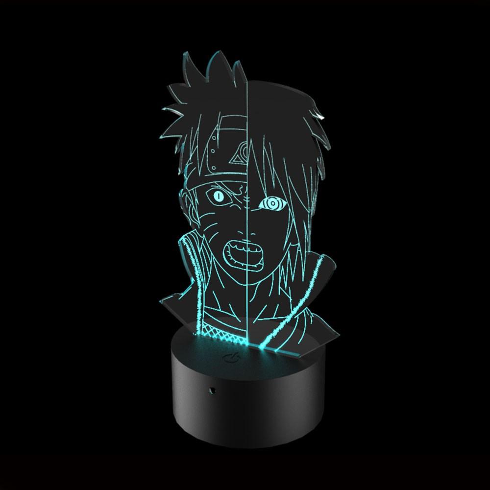 Luminária de Led - Naruto e Sasuke