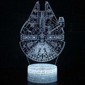 Luminária de Led - Nave Millenium Falcon Star Wars