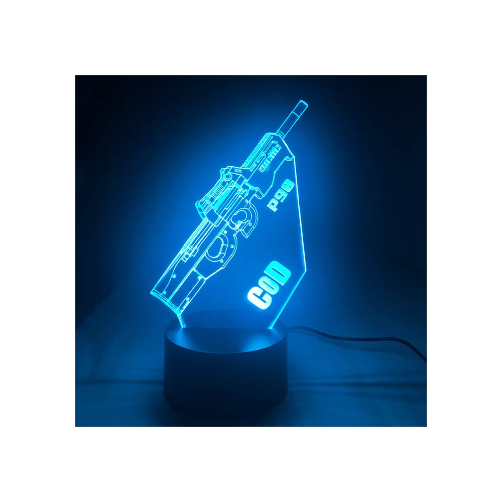 Luminária de Led - P90 Call of Duty