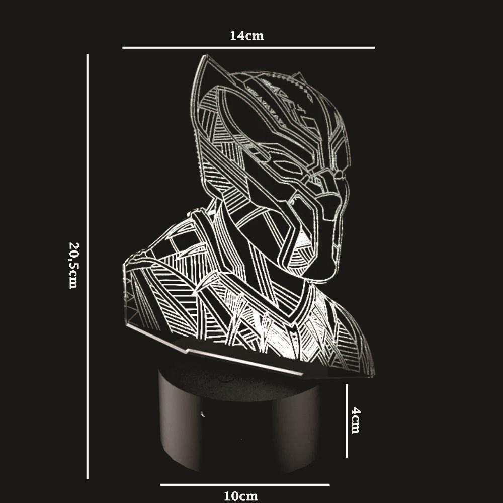 Luminária de Led - Pantera Negra