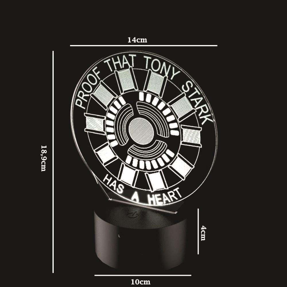 Luminária de Led - Proof That Tony Stark