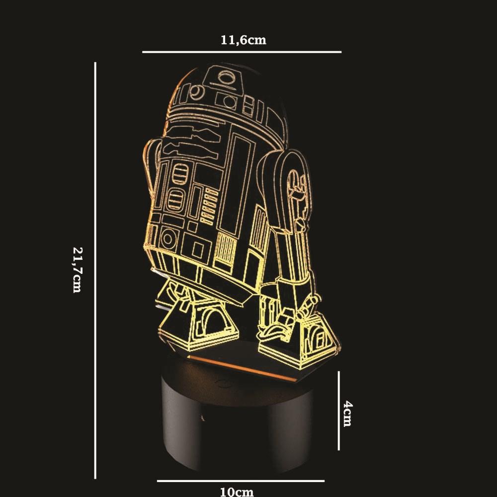 Luminária de Led - RD-2D Star Wars