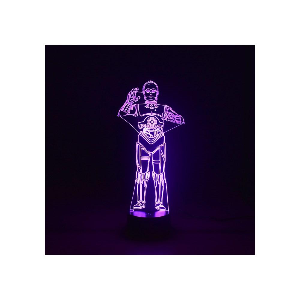 Luminária de Led - Robô C-3PO Star Wars