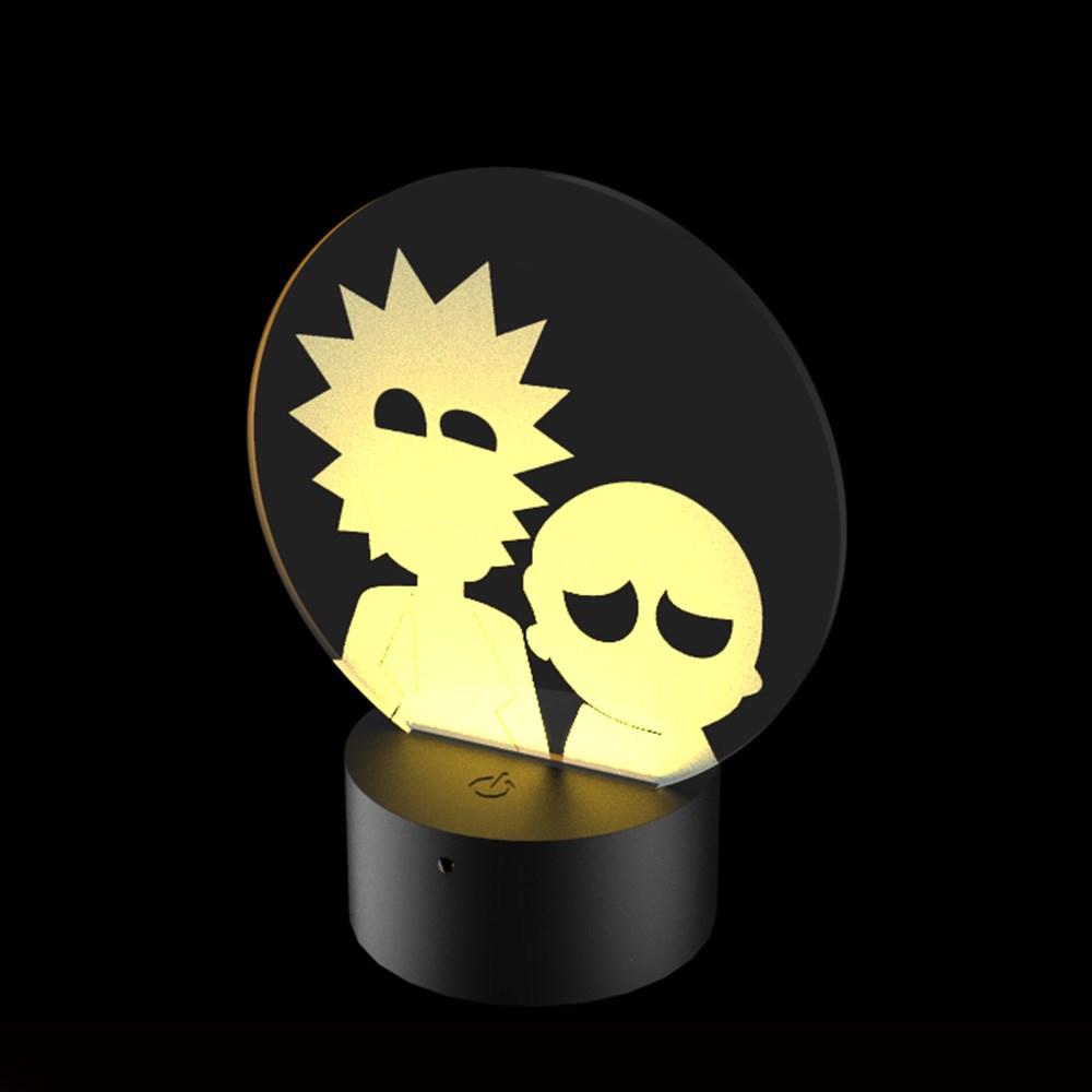 Luminária de Led - Série Rick e Morty