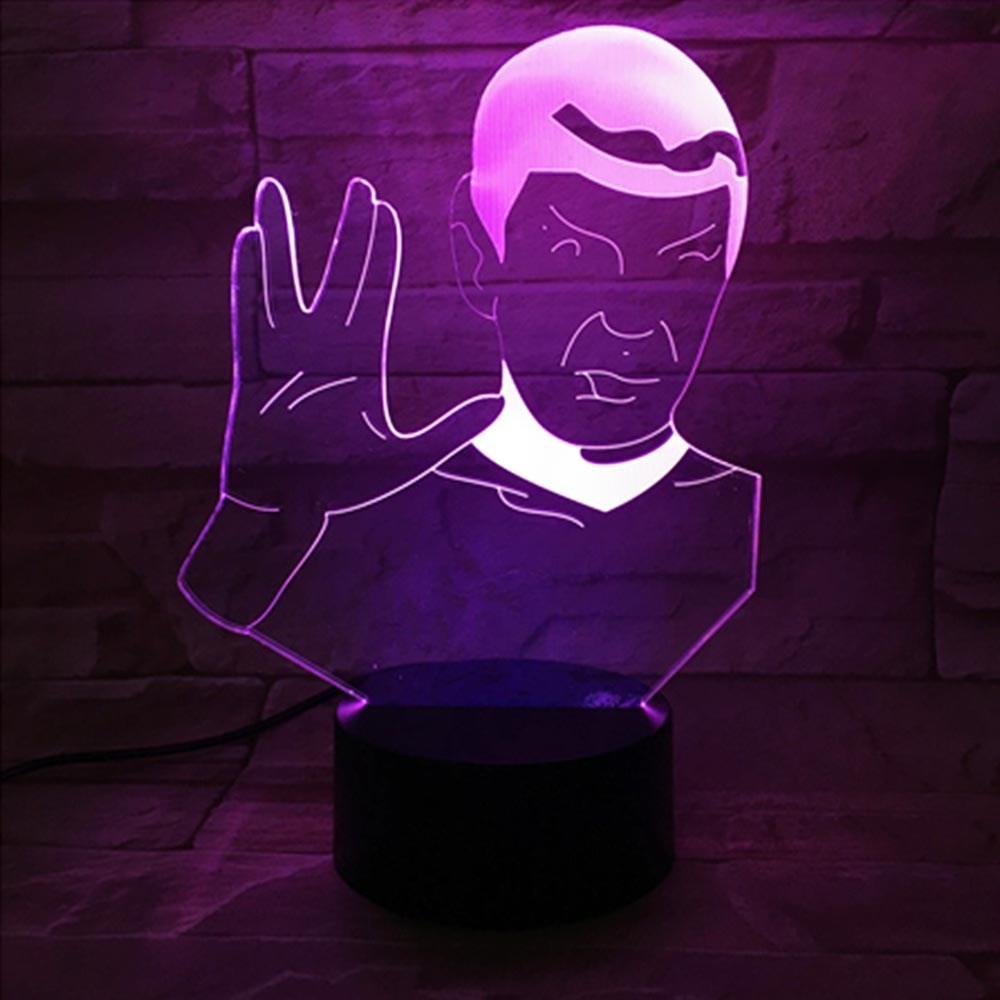 Luminária de Led - Spock Star Trek