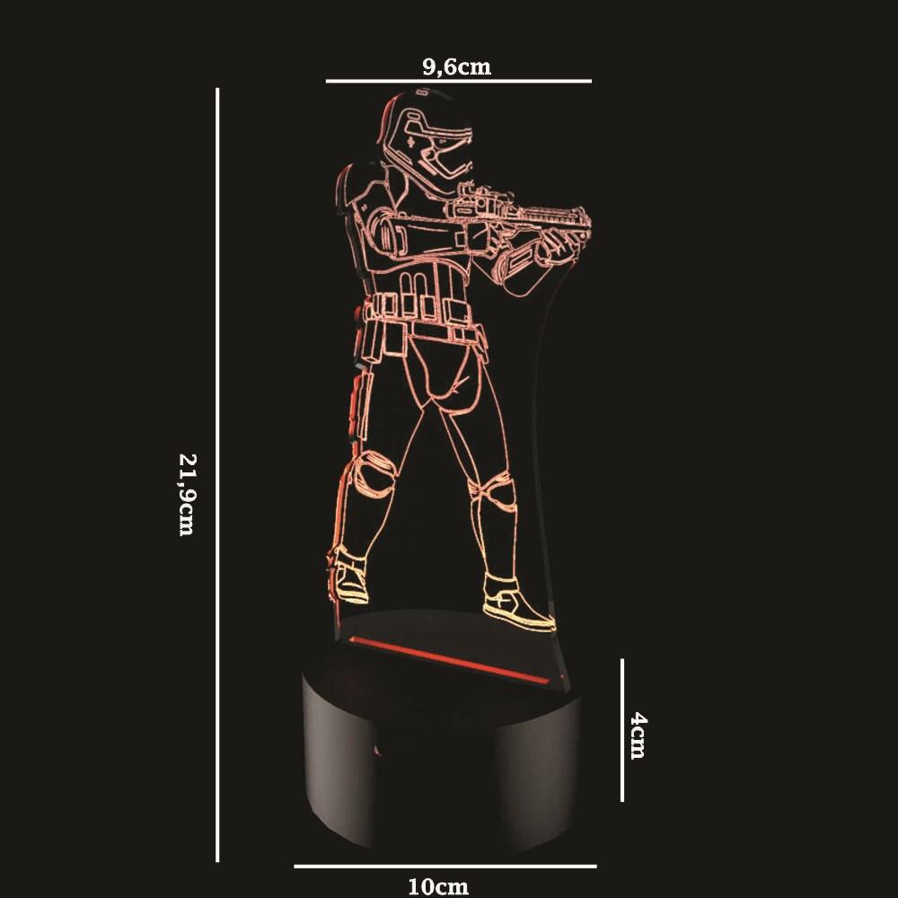 Luminária de Led - Stormtrooper Star Wars