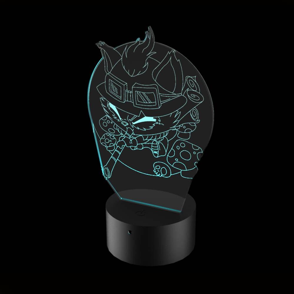 Luminária de Led - Teemo League Of Legends