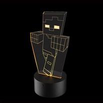 Luminária de Led - Zumbi Minecraft