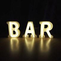 Luminária Letras de LED -  Bar