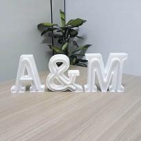 Luminária Letras de LED -  Iniciais do Nome