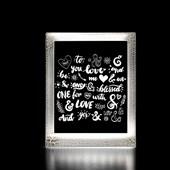 Produto Moldura Decorativa Led - Love