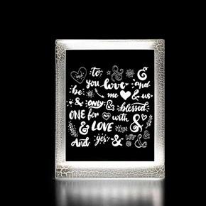 Moldura Decorativa Led - Love