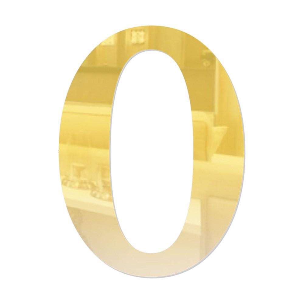 Número em Acrílico Espelhado - 0