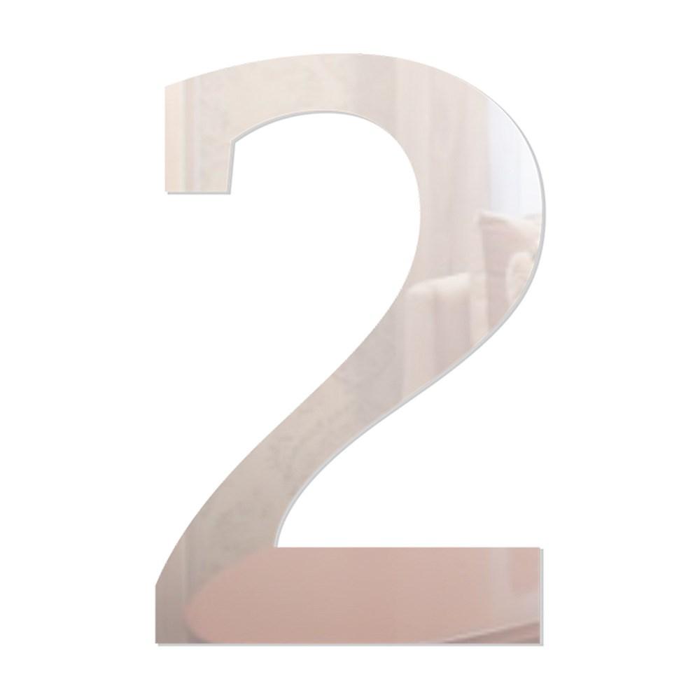 Número em Acrílico Espelhado - 2