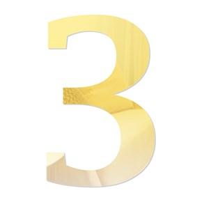 Número em Acrílico Espelhado - 3