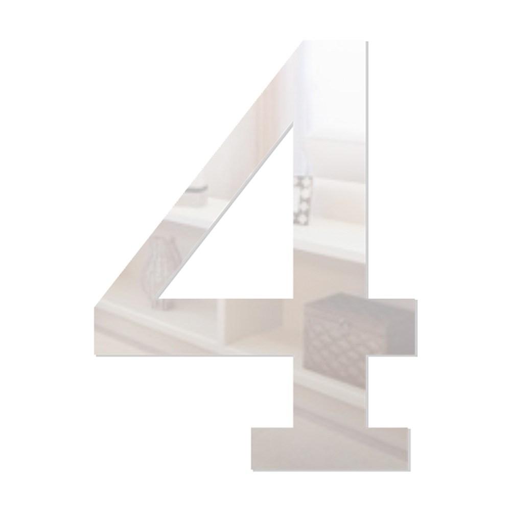 Número em Acrílico Espelhado - 4