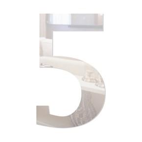 Número em Acrílico Espelhado - 5