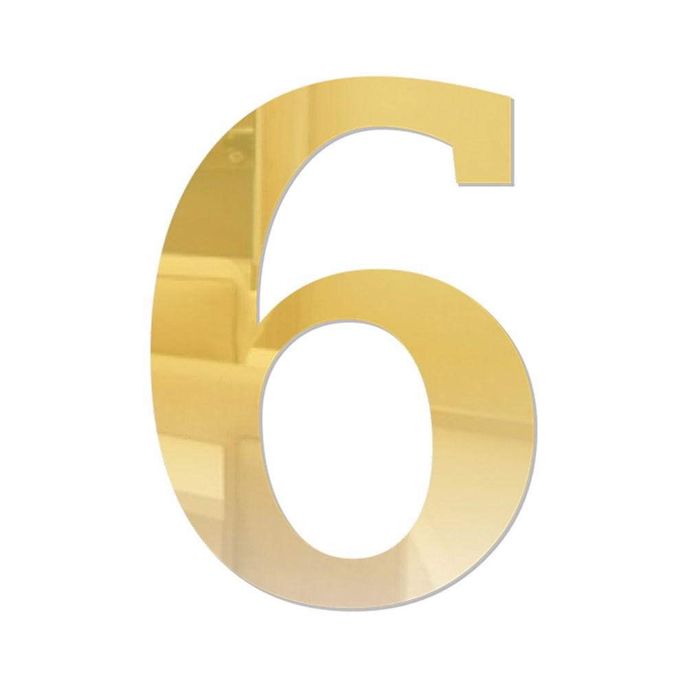 Número em Acrílico Espelhado - 6