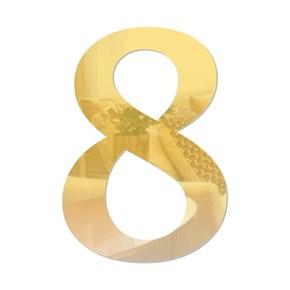 Número em Acrílico Espelhado - 8