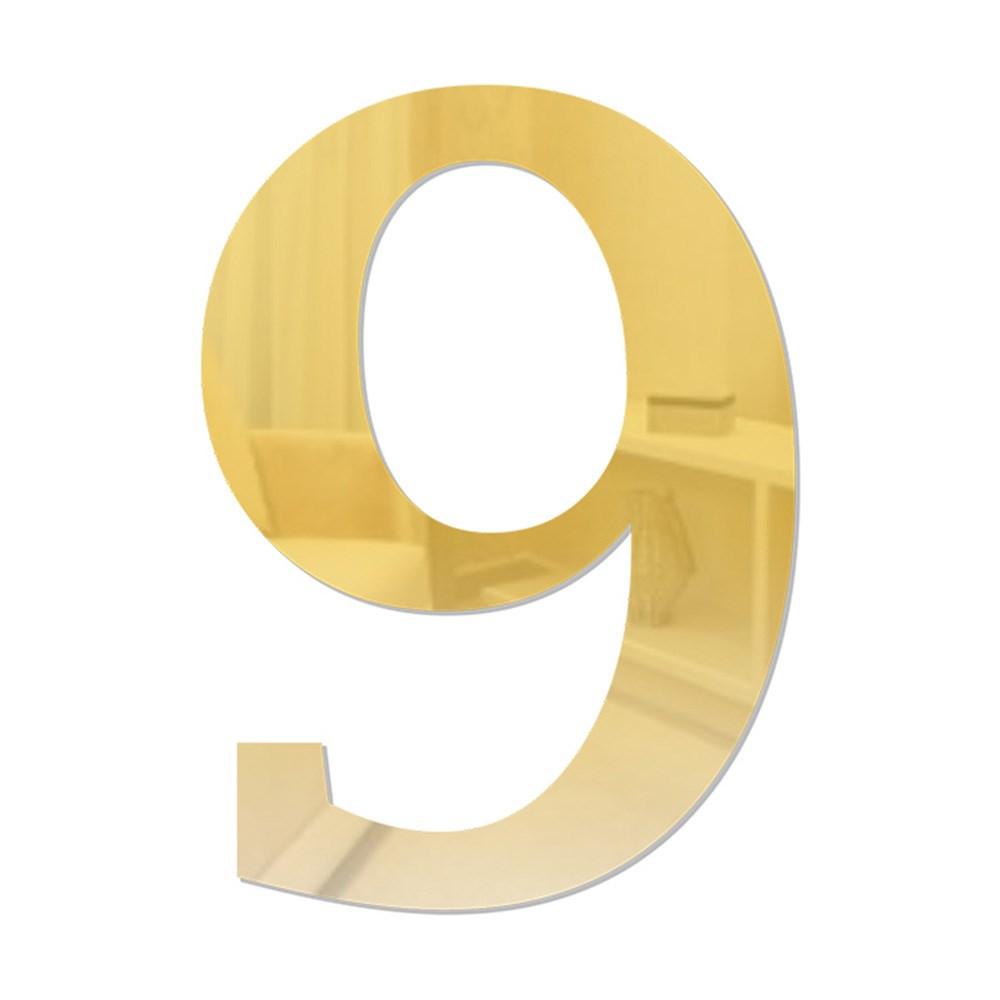 Número em Acrílico Espelhado - 9