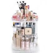 Produto Organizador Giratório para Maquiagem e Cosméticos Diamond