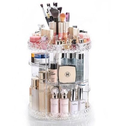 Organizador Giratório para Maquiagem e Cosméticos Diamond